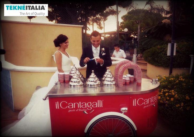 """@tekneitalia - Ice Cream Shop: """"Il Cantagalli"""" - by #tekneitalia made in italy www.tekneitalia.com - Cosenza, Italy - Model: Procopio gelato cart"""