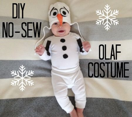 DIY No-Sew Olaf Costume.  Clive looked so cute in this!