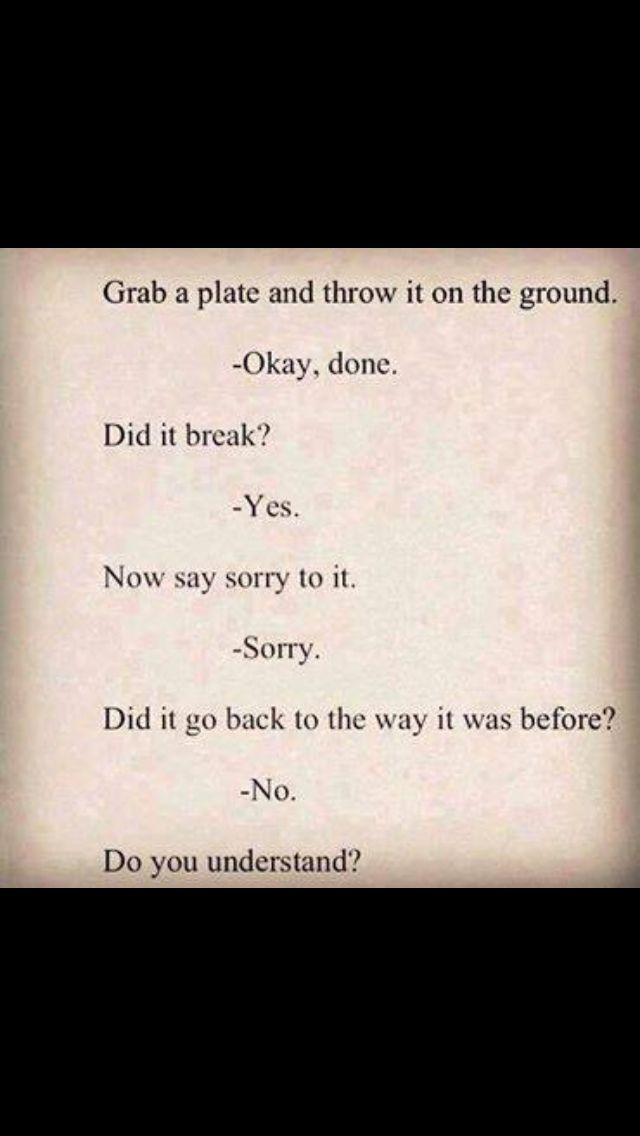 Teaching That Sorry Doesn't Always Make It Better