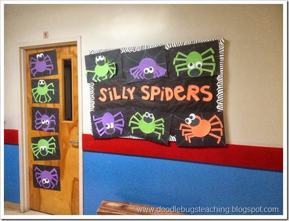 silly spiders craft from doodlebugs first grade rocks halloween classroom - Halloween Crafts For The Classroom
