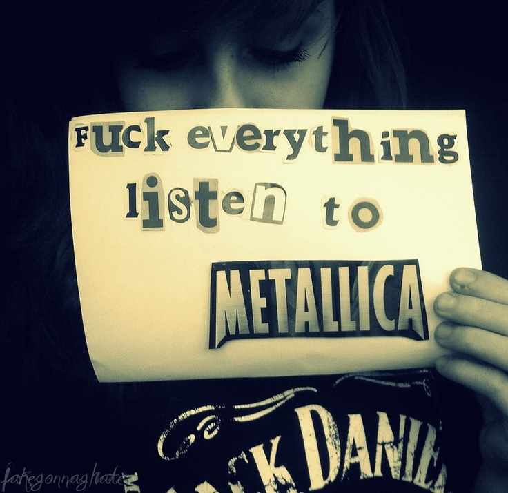 black and white, girl, jack daniels, letters, metallica