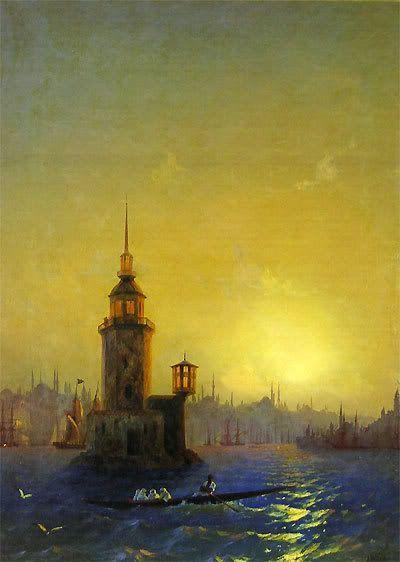 Ivan Ayvazovski Kız kulesi...Istanbul: