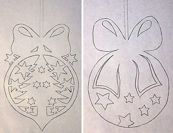 How to DIY Paper Christmas Window Decorations from Free Template | www.FabArtDIY.com
