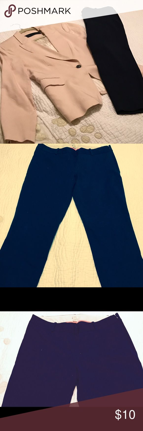 J Crew trouser Pants Trouser Pants garbardine with Stretch. Great basic in Navy. j crew Pants Trousers