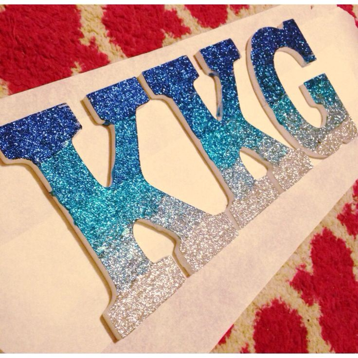 Kappa kappa gamma ombre glitter wall letters. These are perfection. Decorate…