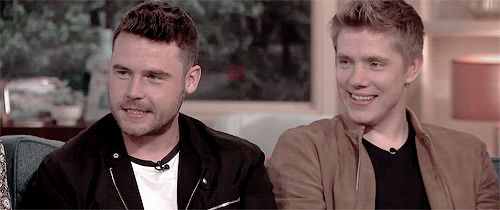 "we're gonna put the two of you together here, because this is known as ""robron"", and what's funny with you guys is no matter where you appear, on whatever show, social media goes into meltdown! people really are buying into this big time!"
