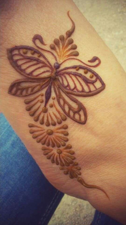 Henna Butterfly on Pinterest | Butterfly Tattoos Butterfly Tattoo …
