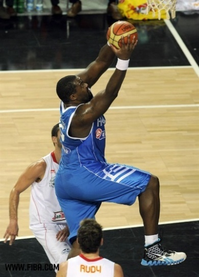 Sofoklis Schortsanitis, 1985-, is a #Greek professional basketball player of Panathinaikos FC. He is 6 feet 10 inches and weighs 345 libres. He has reached the Euroleague finals twice in 2010 and 2011 and is a member of the Greek national team.