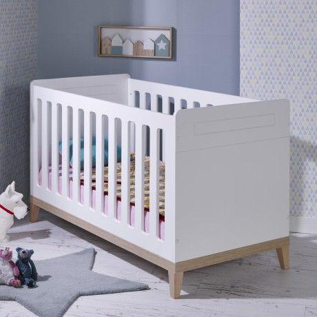 Lit bébé évolutif 70x140 Siki blanc