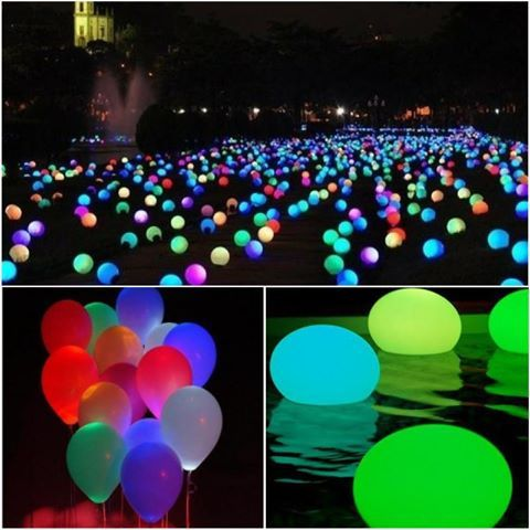 Add Glowsticks To Balloons For The Pool Or Just A Bouquet