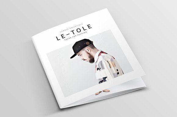 Square Tri-Fold Fashion Brochure by BOXKAYU on @creativemarket