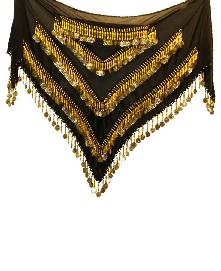 This scarf was hand-made by a Nubian woman living in Egypt. In antiquity, Nubia was the region to the south of Egypt. Today the Nubian people have been dispersed between Egypt and the Sudan. Hip scarves and belly dancing have long been a tradition in Egypt and North Africa. The women who craft these scarves are keeping alive a time-honored tradition. Handmade, slight variations and imperfections add to the individual character of each item.