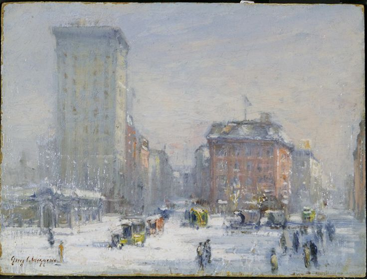 """""""The Circle, New York City, Guy Wiggins, 1912-20, Roughton Galleries."""
