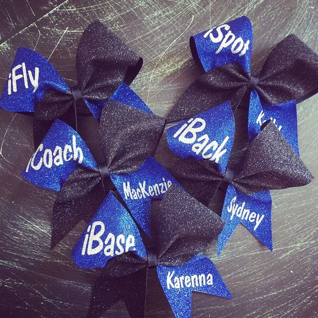 Glitter stunt group bows with your name. Can be made in any color combination. IF YOU NEED MORE THAN ONE BOW LEAVE A NOTE WITH WHAT POSITION YOU NEED AND A NAME. Example: ifly -sam , ifly -pam etc.