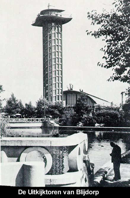 De Uitkijktoren van Blijdorp Uitkijktoren van Blijdorp. De uitkijktoren van Diergaarde Blijdorp vormde het hoogtepunt aan het uiteinde van de symmetrie-as waarlangs architect Van Ravesteyn in 1938 de dierentuin had ontworpen