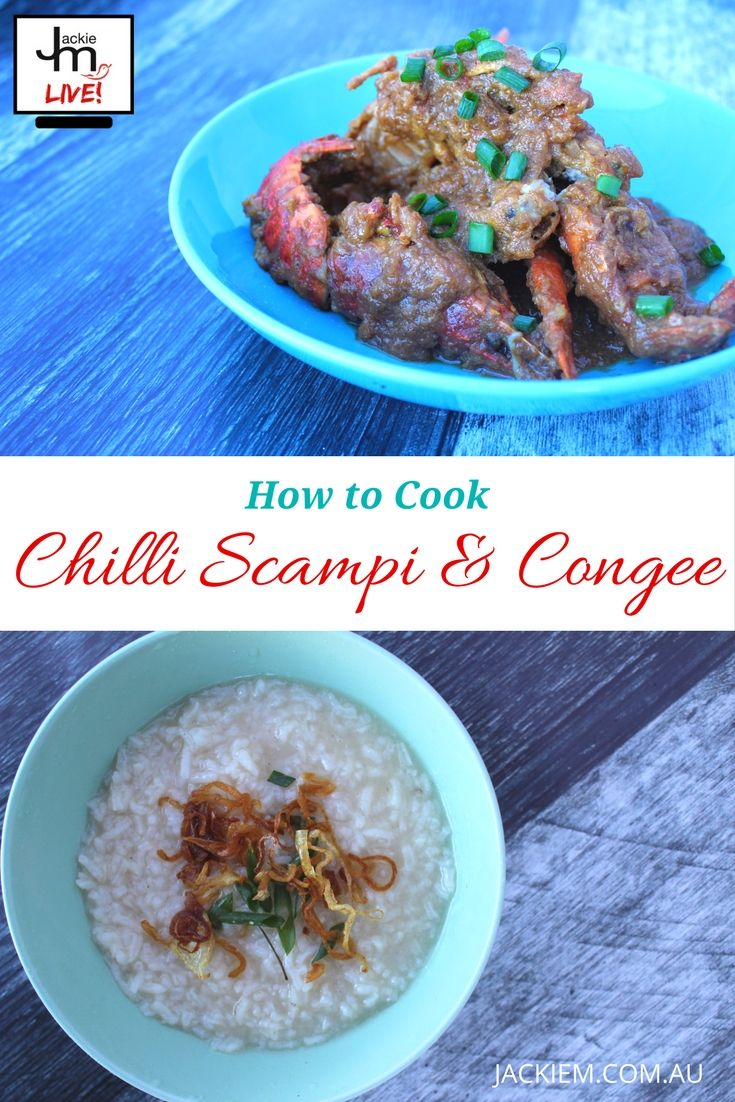 Here's a reply to my LIVE Asian Kitchen broadcast featuring How to Cook Chilli Scampi and Congee -