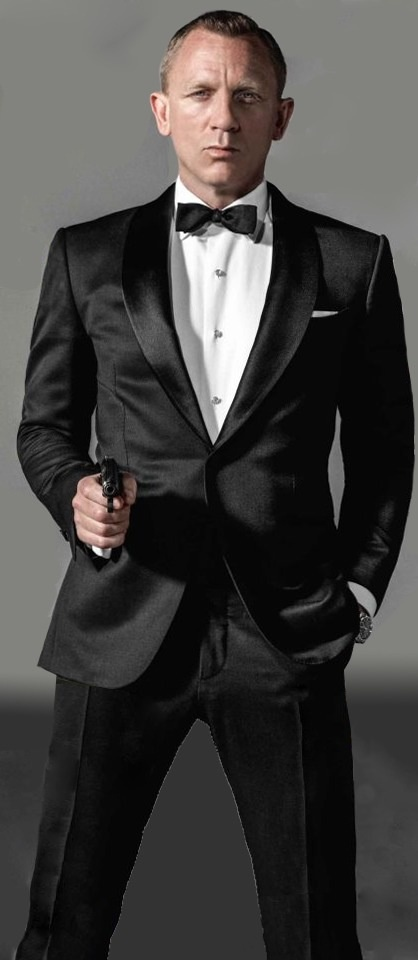 Daniel Craig (as James Bond 007) Tom Ford Tuxedo, Walther PPK optional