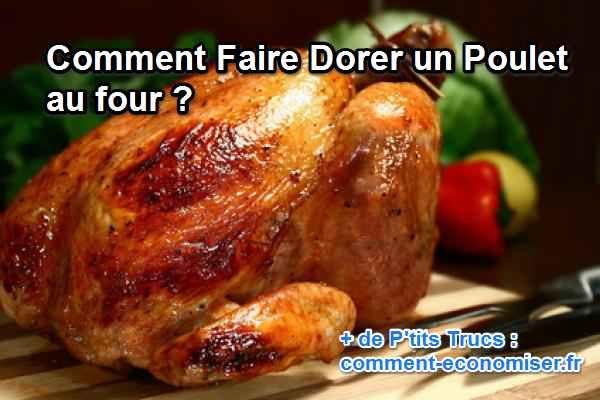 Et oui, il est possible de faire, chez soi, un délicieux poulet juteux et croustillant à souhait avec un four tout simple !  Découvrez l'astuce ici : http://www.comment-economiser.fr/faire-dorer-un-poulet-au-four.html?utm_content=bufferc494c&utm_medium=social&utm_source=pinterest.com&utm_campaign=buffer