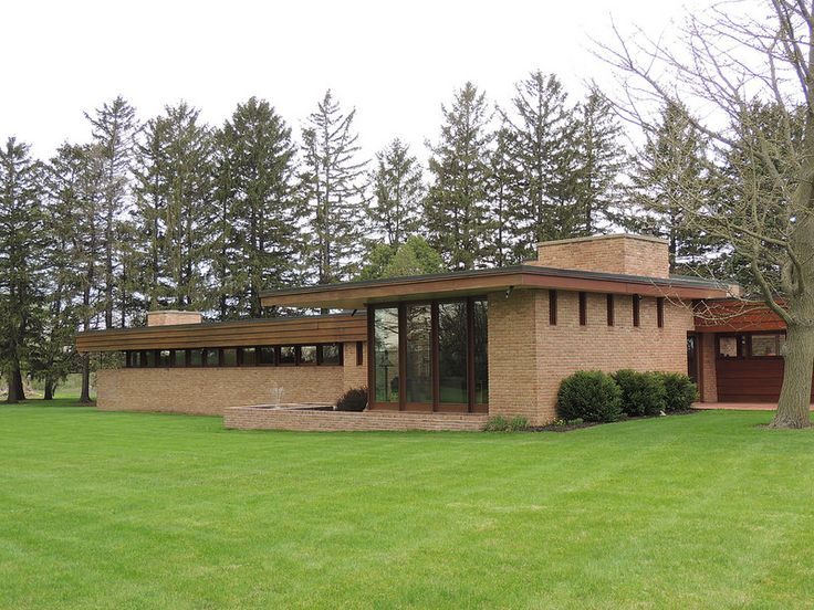 Muirhead House. 1950. Plato Center, Illinois. Usonian Style. Frank Lloyd Wright