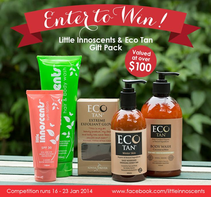 WIN a Little Innoscents & Eco Tan gift pack with products for mum and baby valued at over $100.