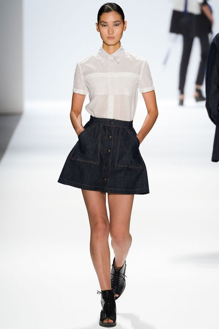 Skirt and white shirt, Richard Chai Love RTW SS13