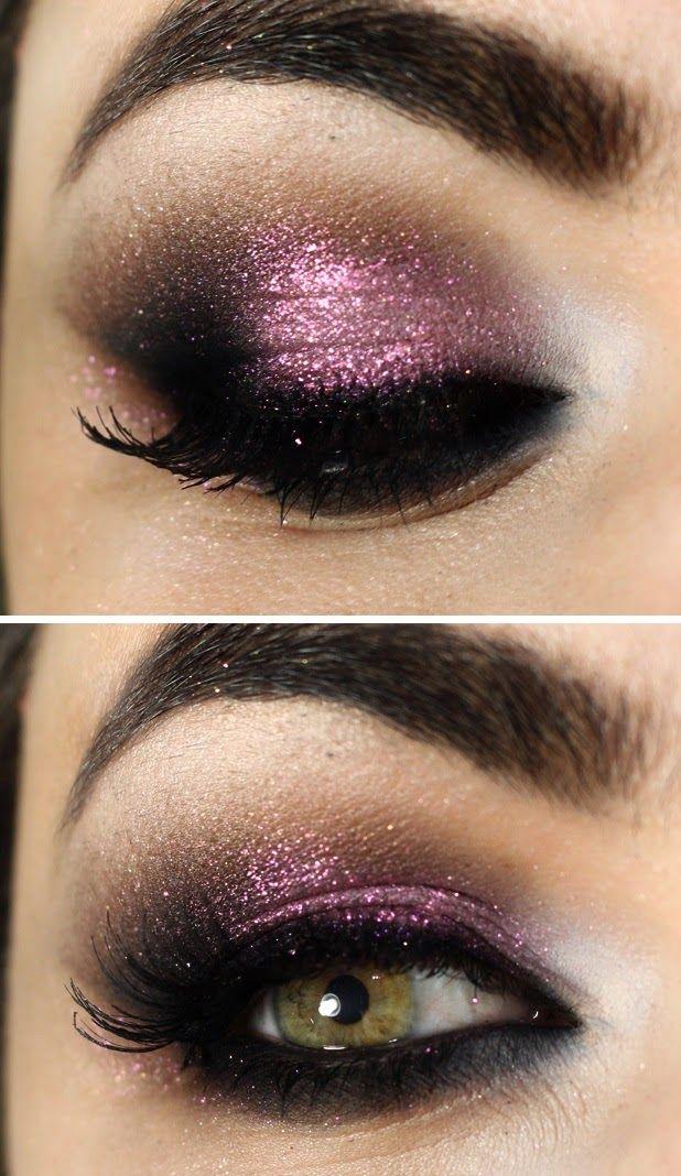 Gorgeous Glitter Smokey Eyes # Makeup