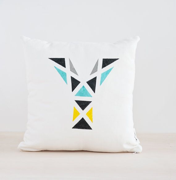 Modern Initial Pillow : 25+ best ideas about Personalized pillow cases on Pinterest Monogram pillowcase, Pillowcases ...