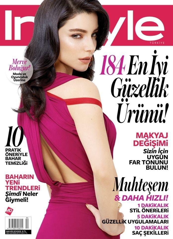 Merve Bolugur - InStyle Magazine Cover [Turkey] (May 2013)