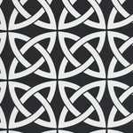 Linked In Black Contemporary Outdoor Fabric
