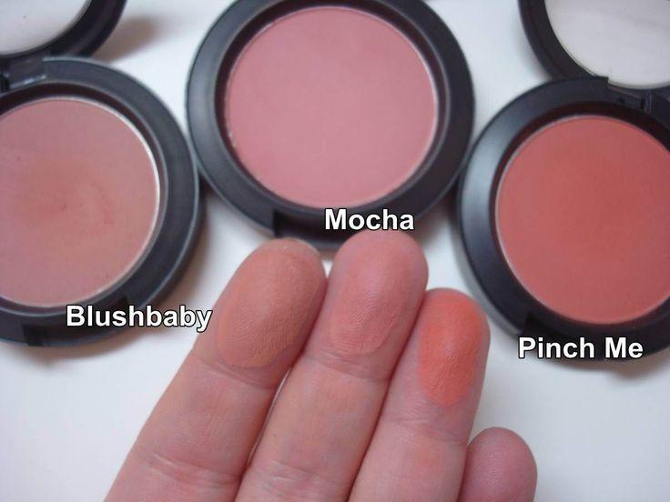 MAC Blushes Mocha, Blushbaby e Pinch Me