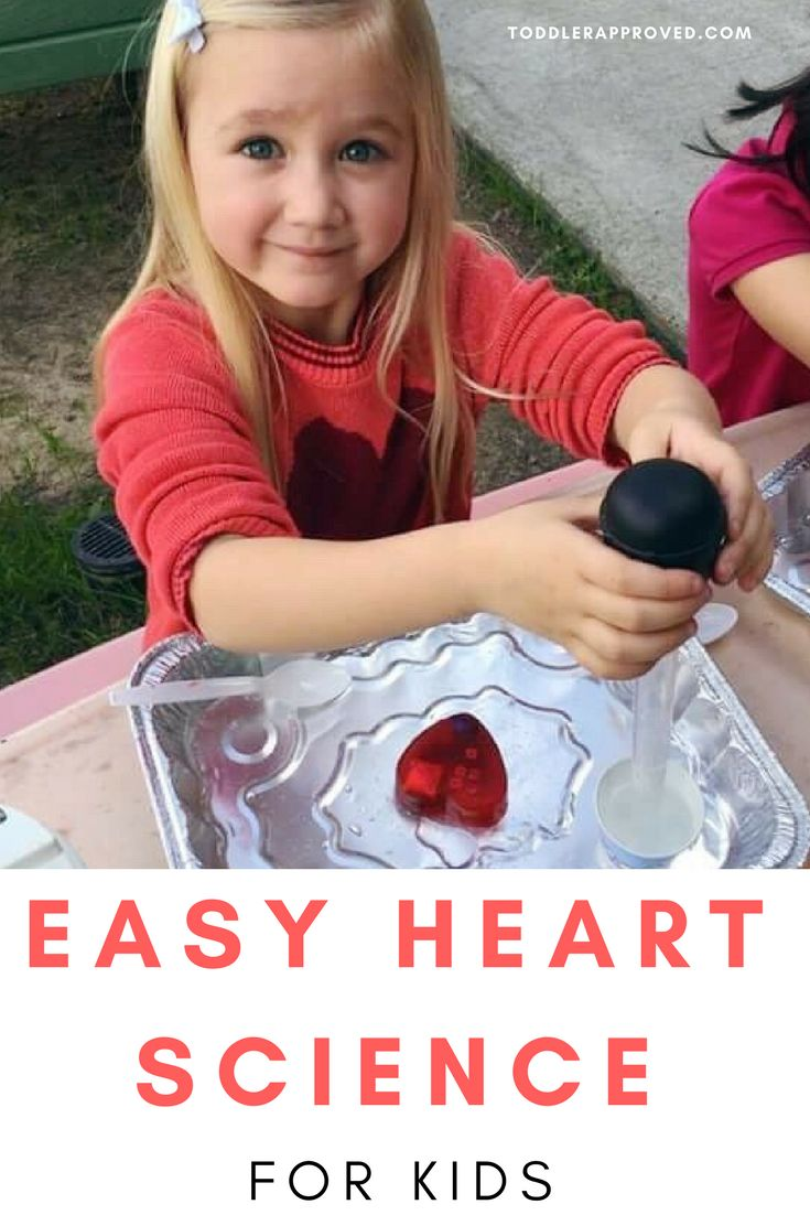 Easy Frozen Heart Science Activity for Toddlers and Preschoolers