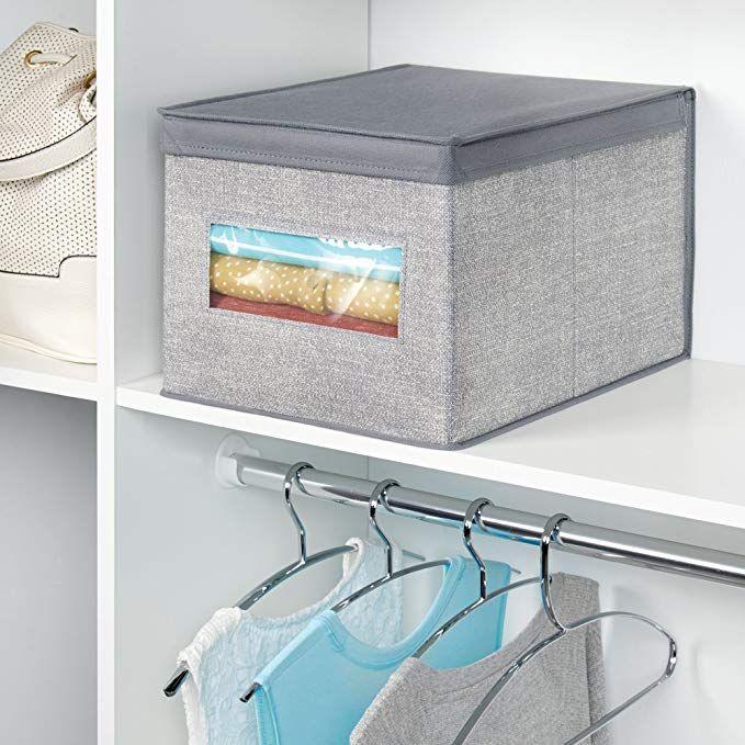Interdesign Axis Aufbewahrungsbox Mit Deckel Fur Kleidung Oder Schuhe Grosse Schrankbox Mit Sichtfenster Aus P Aufbewahrungsbox Stauraum Aufbewahrung