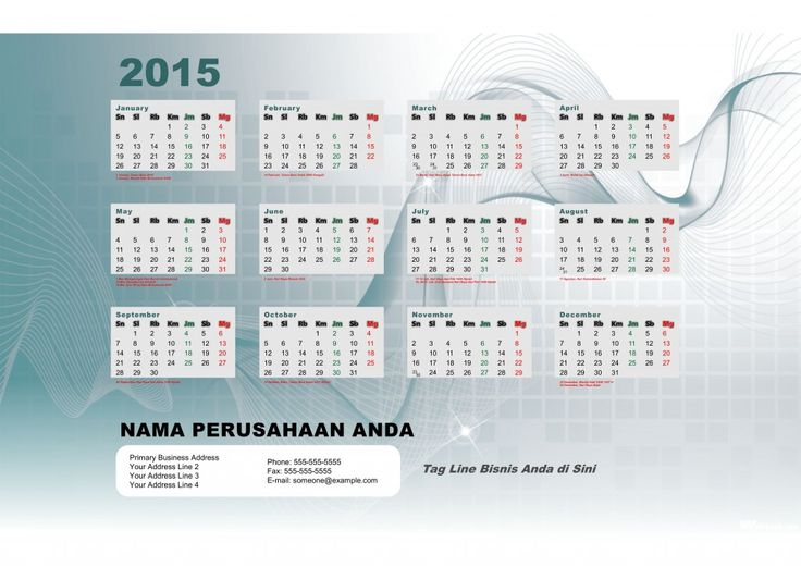 Kalender 2015 Indonesia - Design_40_Studio