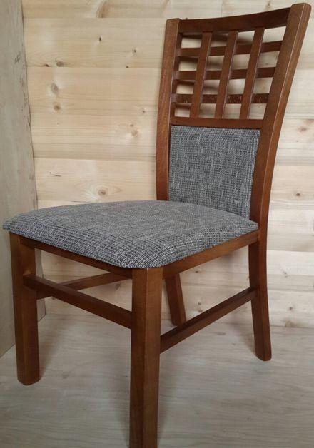 деревянный стул Даниэль мягкая спинка и сидушка мягкое сидение обивка ткань натуральное дерево деревянные стулья из дерева цена грн бесплатная доставка недорого по украине 4ugla.com.ua