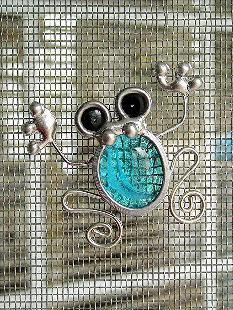 Stained Glass Screen Door Frog Suncatcher by JasGlassArt - Stained Glass, via Flickr