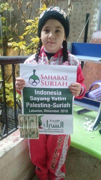Telah Diserahkan Amanah Keluarga Indonesia untuk 50 Anak Yatim Palestina-Suriah  Foto: Sahabat Suriah | Sahabat Al-Aqsha  YOGYAKARTA Jumat (Sahabat Al-Aqsha | Sahabat Suriah): Alhamdulillah amanah santunan bulan Januari-Februari dari keluarga Indonesia telah diberikan kepada 50 anak yatim Palestina-Suriah di kamp pengungsi Ain Halwa Lebanon. Mereka adalah warga Palestina yang mengungsi ke Suriah kemudian mengungsi lagi ke Lebanon akibat perang yang melanda Suriah. Program Yatim Suriah ini…