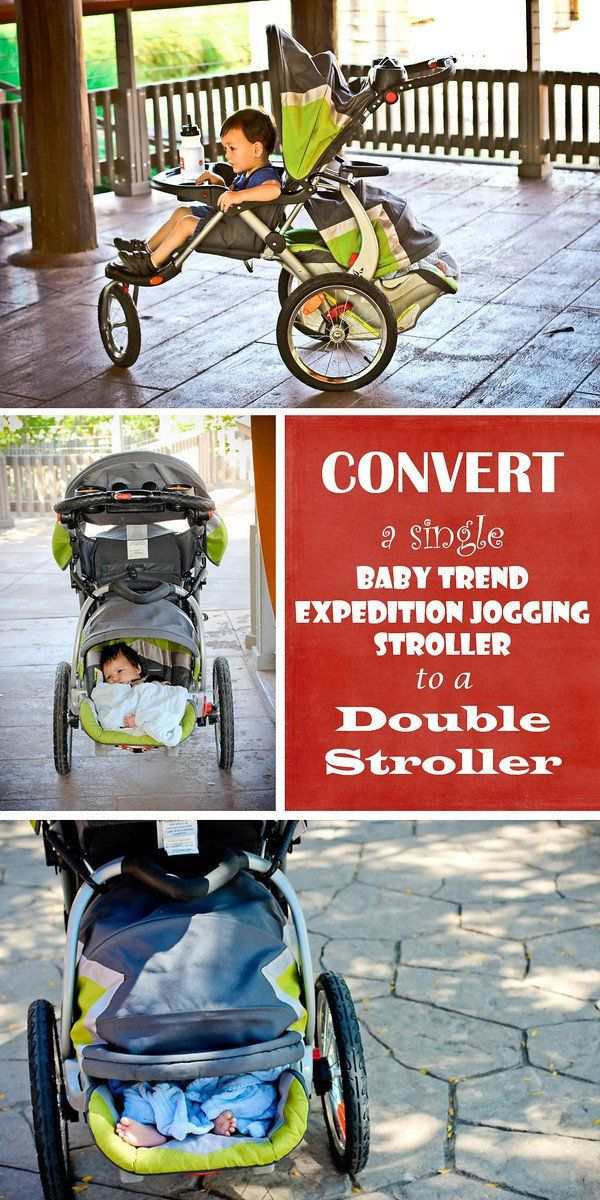 15 Stroller Hacks Every Mom Needs to Know - Convert a single jogging stroller into a double so there's less bulk!