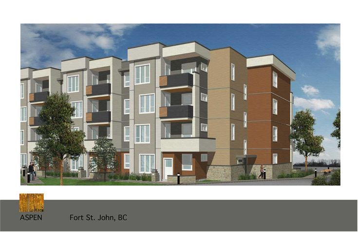 Aspen multi-bedroom condo coming to Fort St. John, British Columbia. A variety of high quality suite options will be available with this new development.