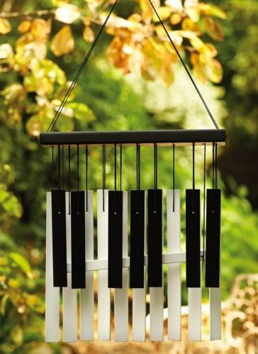 Wonderful Piano Keyboard Wind Chimes http://pinterest.com/cameronpiano