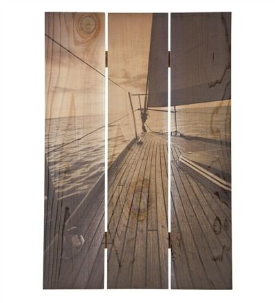 Handcrafted Sailboat Deck Nautical Wall Art by Gizaun Art%26#153;