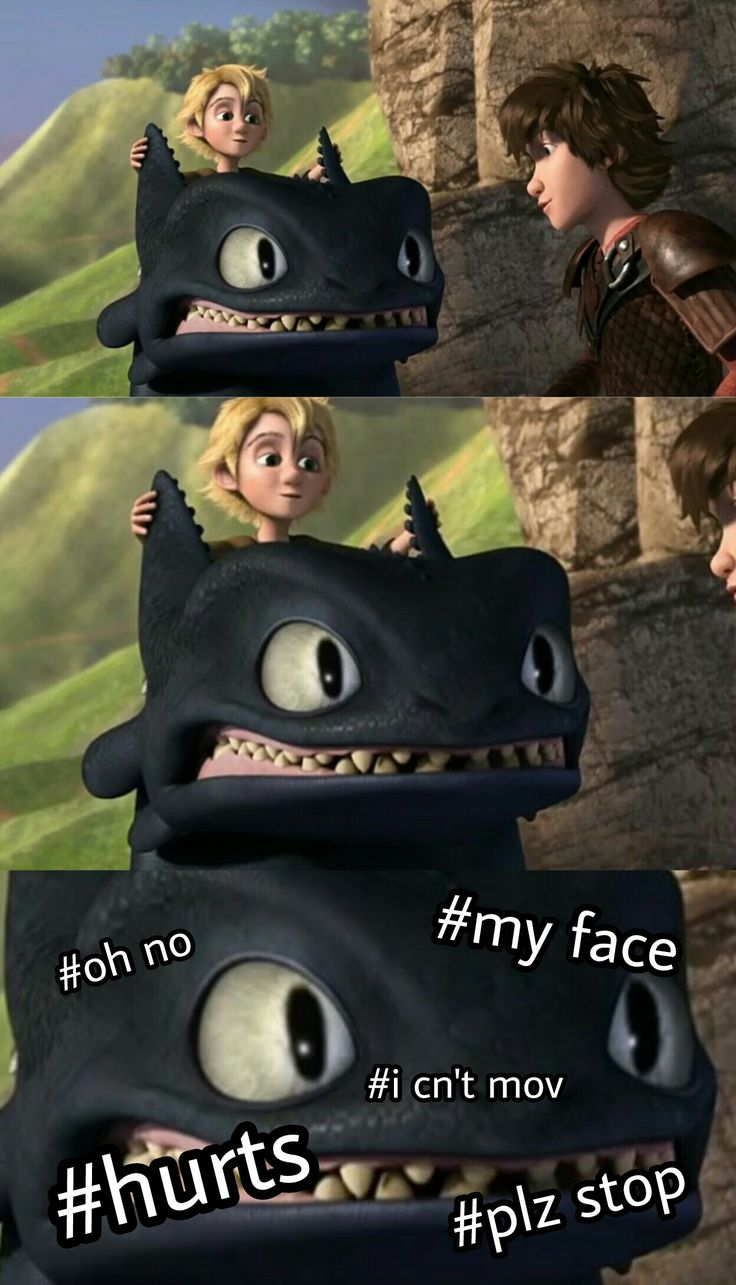 WHY WAS TOOTHLESS MAKING THAT FACE THO
