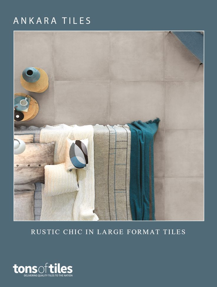 Create a rustic chic look with these large format tiles
