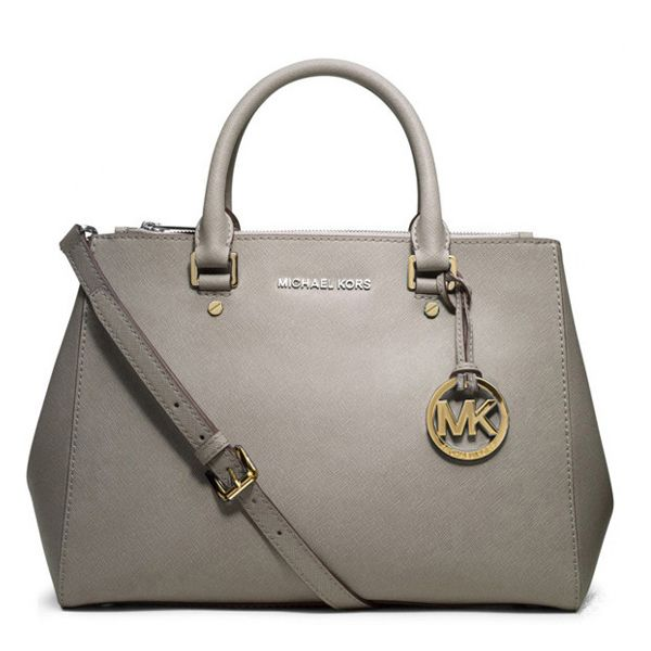 Michael Kors Sutton Saffiano Leather Large Grey Satchels