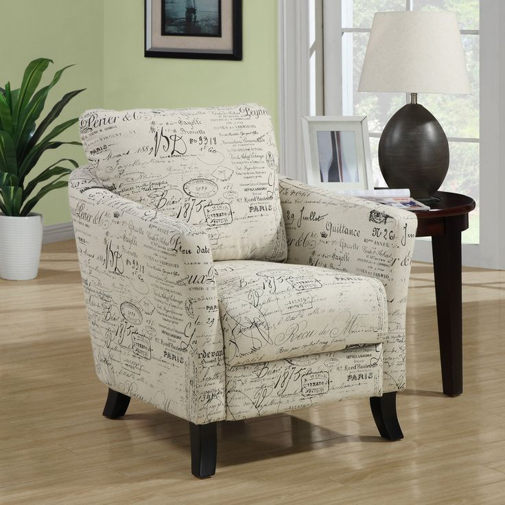 Monarch Specialties Vintage French Fabric Accent Chair-I 8007 - The Home  Depot - 78 Best Images About Chairs For The Living Room On Pinterest