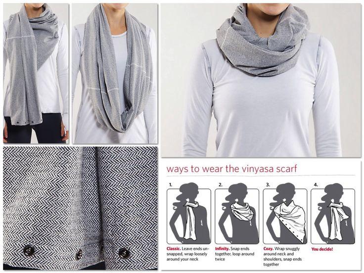 Infiniti scarf | Vinyasa Scarf: Lululemon | Pinterest