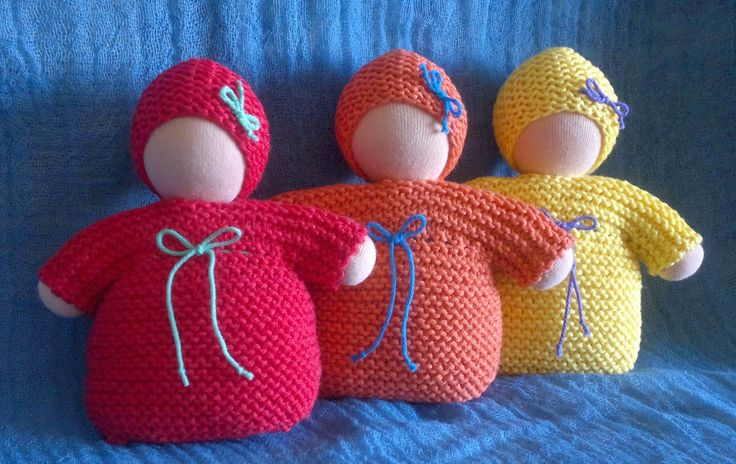 Waldorf babies cotton knitted