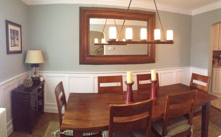 18 best dining room with a chair rail images on pinterest dining room colors interior paint. Black Bedroom Furniture Sets. Home Design Ideas