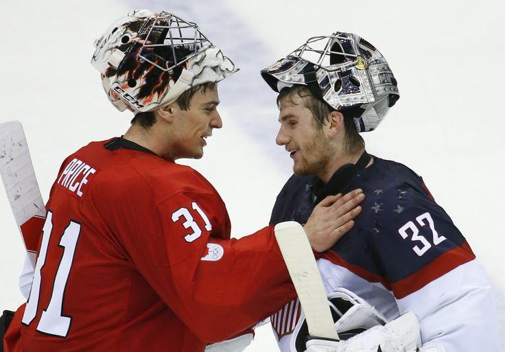 Carey Price and Jonathan Quick #Sochi2014 (via gfhockey / Tumblr)