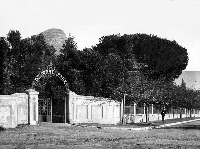 Gate of the De Waal Park, Cape Town (1890)