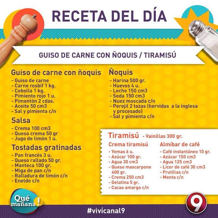 Receta canal9 pinterest for Cocina 9 ariel rodriguez palacios facebook